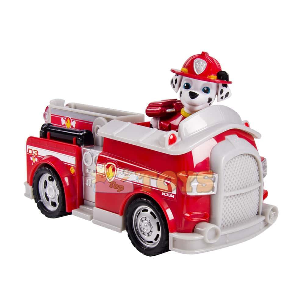 PAW Patrol Set figurină cu vehicul Patrula Cățelușilor Marshall Fire Engine