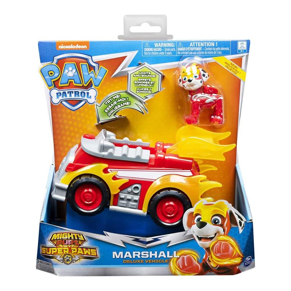 PAW Patrol Set figurină cu vehicul Patrula Cățelușilor Marshall Deluxe