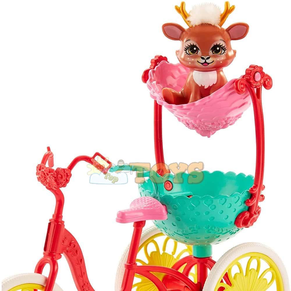 Enchantimals Set de joacă Danessa Deer Tricicletă cu două locuri GJX30