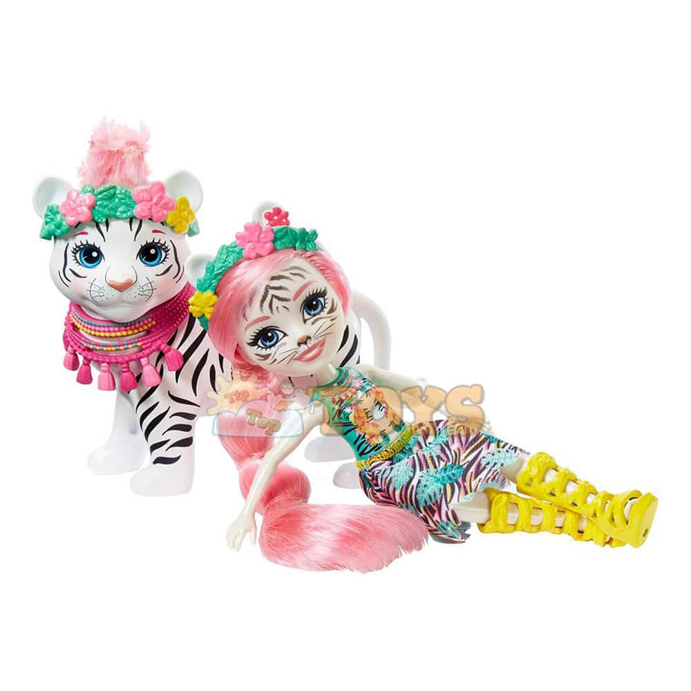 Enchantimals Set de joacă Tadley Tiger și animăluțul Kitty tigru GFN57