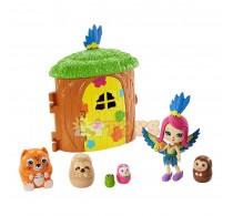 Enchantimals Set de joacă Căsuța de lemn a lui Peeki Parrot GTM49