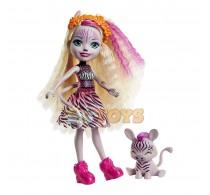 Enchantimals Păpușă Zadie Zebra cu figurină Ref GTM27