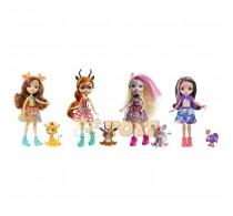Enchantimals Set 4 păpuși cu figurină Sunny Savanna GYN57
