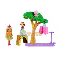 Set de joacă Barbie The Lost Birthday Chelsea Petrecere surpriză GTM84
