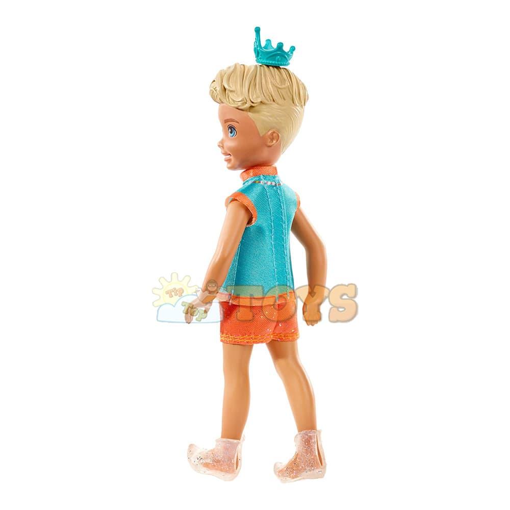 Păpușă Barbie Dreamtopia Sprite băiat cu păr blond Chelsea GJJ96