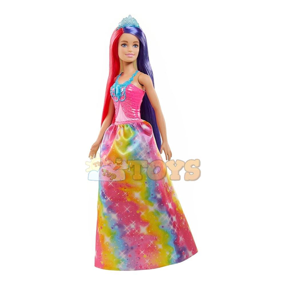 Păpușă Barbie Dreamtopia Prințesă cu părul lung și accesorii GTF38