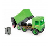 Wader Mașină de gunoi 42 cm verde Middle Truck 32103
