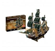 Puzzle 3D Queen Anne's Revenge corabie Cubic Fun 3D 24 piese