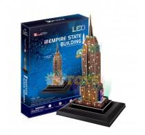 Puzzle 3D Empire State Building Cubic Fun 3D L503 LED - 88 piese
