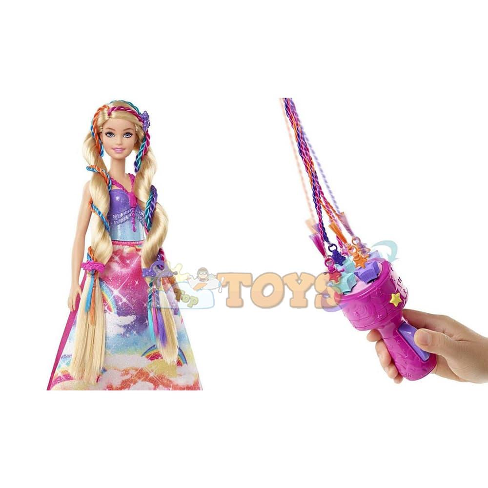 Păpușă Barbie Dreamtopia Prințesă cu împletituri fabuloase GTG00