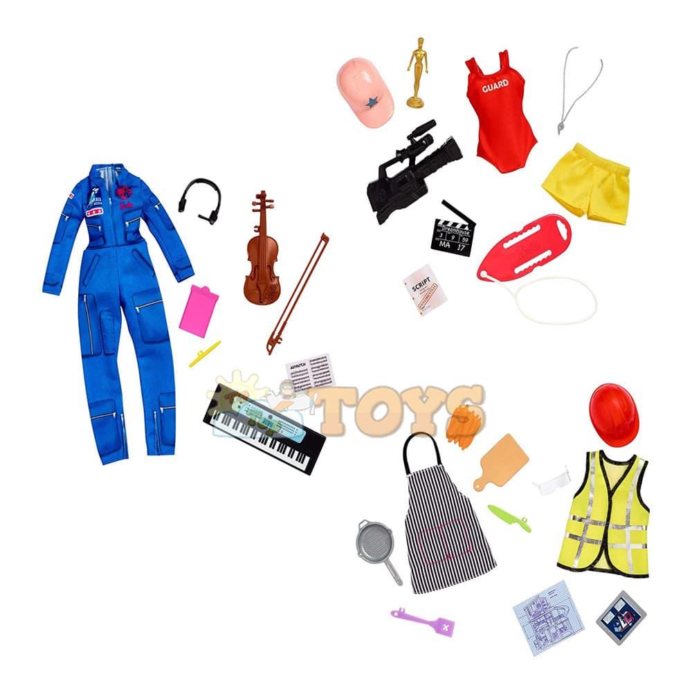 Set de joacă Barbie Surprise Career set 2 ținute păpușă Barbie GLH57